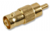 Gold Plated BNC to RCA adapter / Converter BNC Female RCA Male